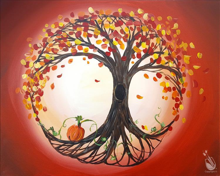 Tree of Autumn Life Painting Party