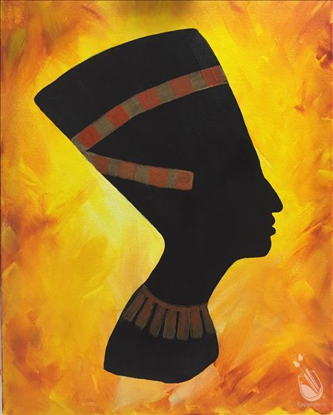 Late night fun queen nefertiti adults only 1 14 2017 for Painting with a twist alamo ranch