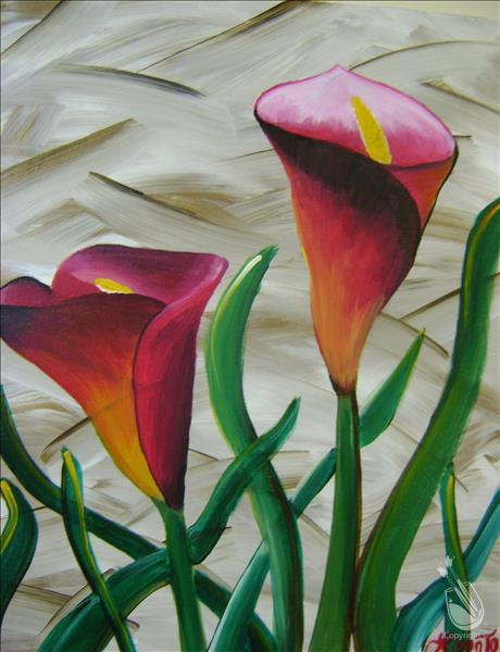 How to Paint COFFEE & CANVAS - Calla Lilies