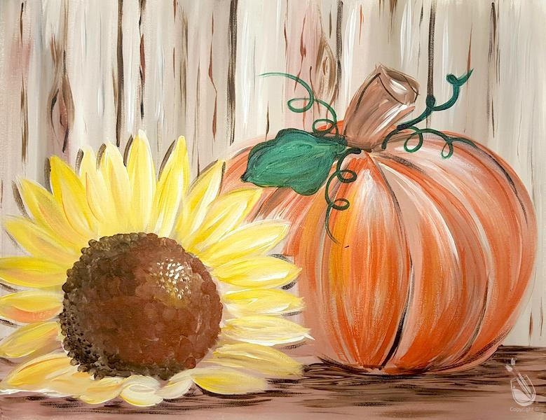 Rustic Sunflower Pumpkin **PUBLIC**