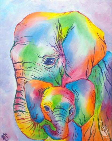 Pastel Elephants 3 hr **LIMITED SEATING**