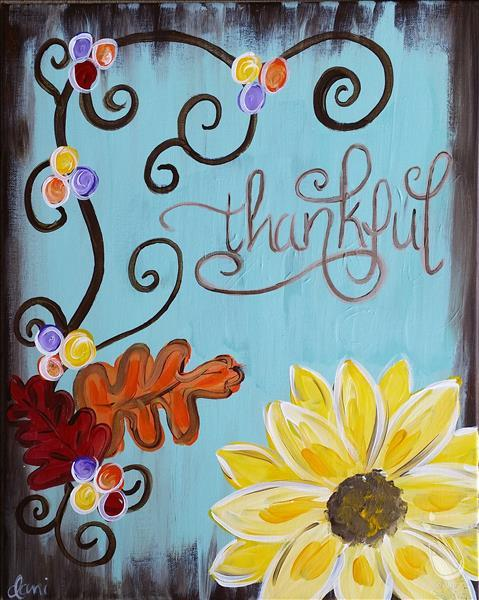 **Manic Monday**  Thankful - Double Paint Points
