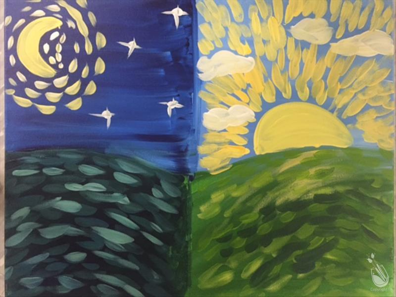 Art Class - Color Transitions: VanGogh Day & Night