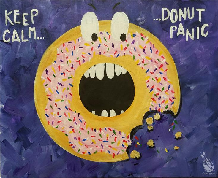 How to Paint *Cookies and Canvas* Donut Panic