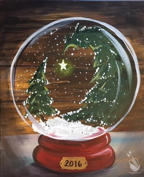 How to Paint Winter Snow Globe