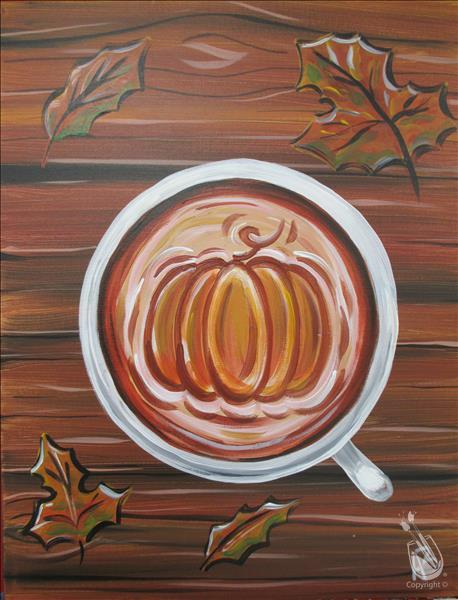 [Morning Paint Time] PUMPKIN Spice! **FREE COFFEE!