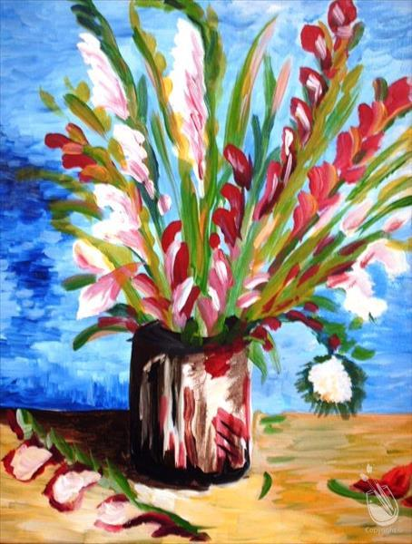 Monet's Daffodils - Large 24x36 Canvas!