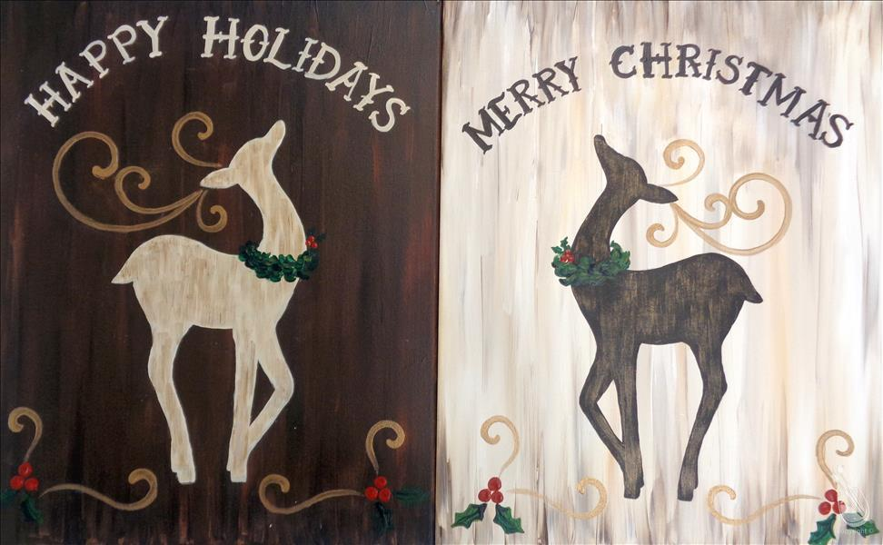Rustic Reindeer - Pick a Side - Adults