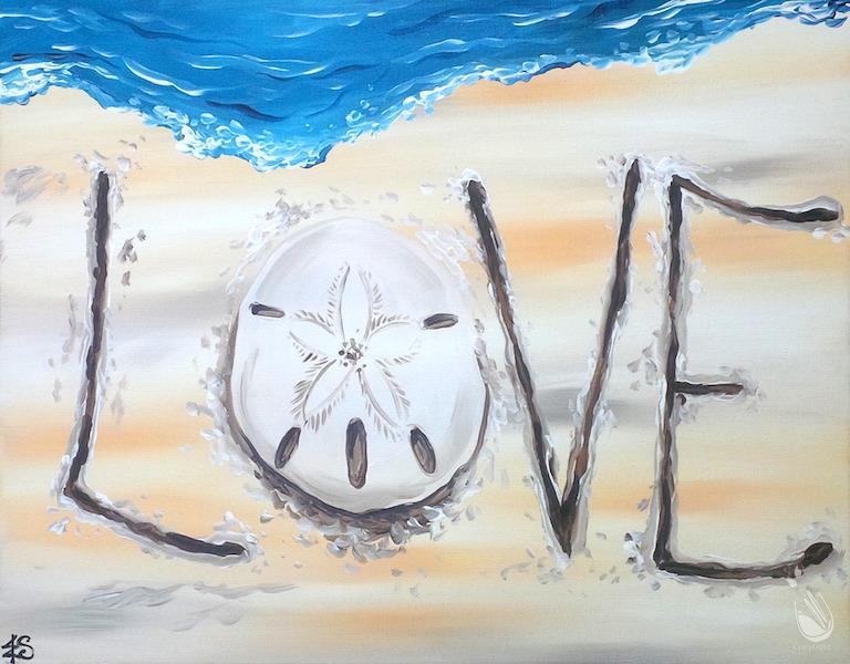 How to Paint Seashore Love (Ages 10+) Mask Required