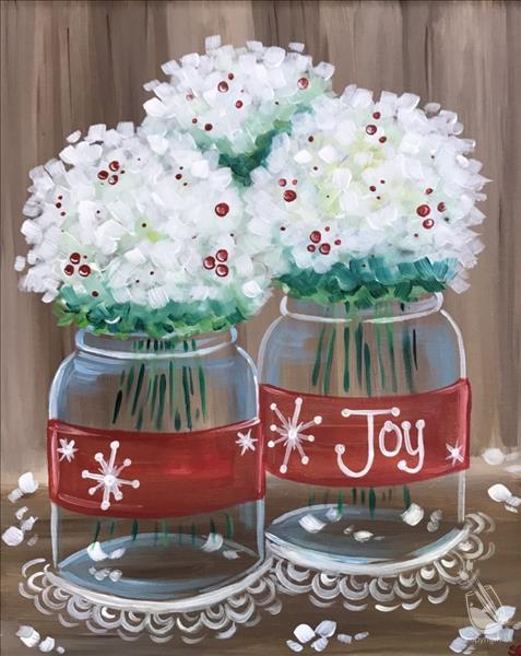 How to Paint Holiday Hydrangeas!