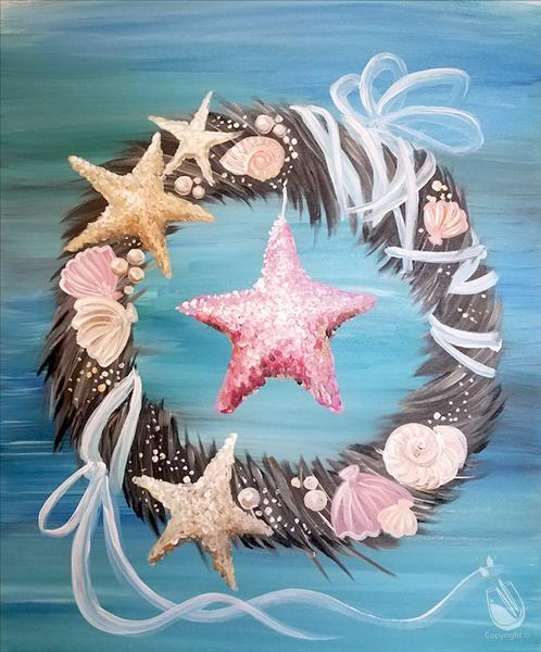 How to Paint Wreath of the Beach