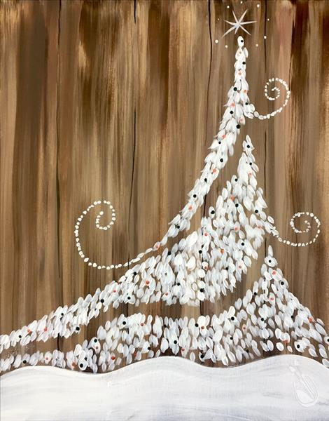 Twinkly Christmas Tree - Rustic Dark