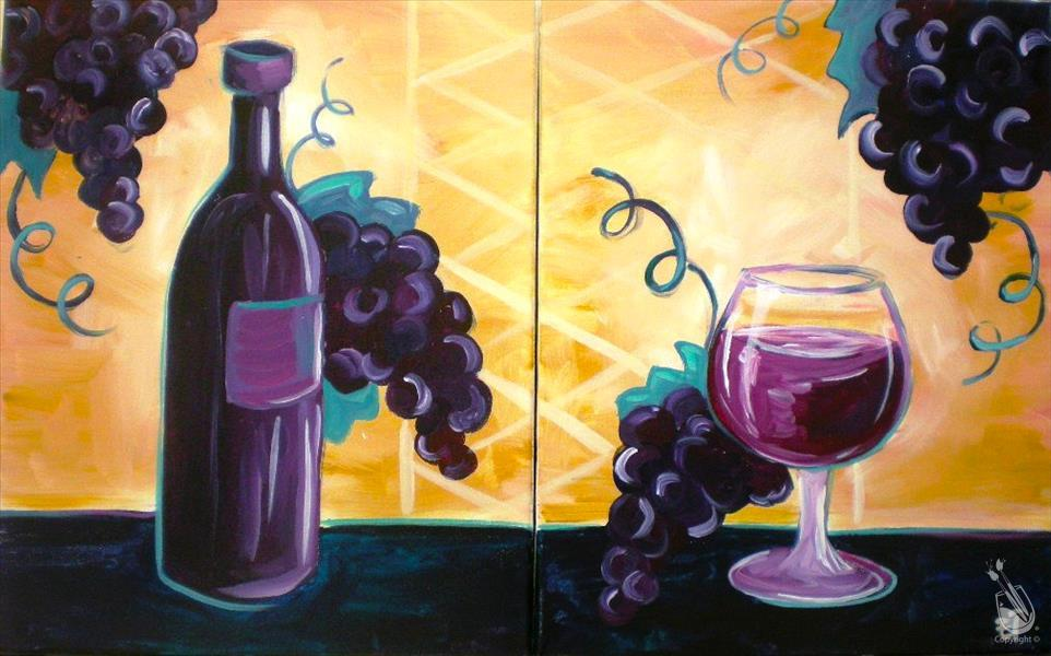 Grapes and Wine-Set