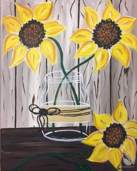 How to Paint Hand Picked Sunflowers II