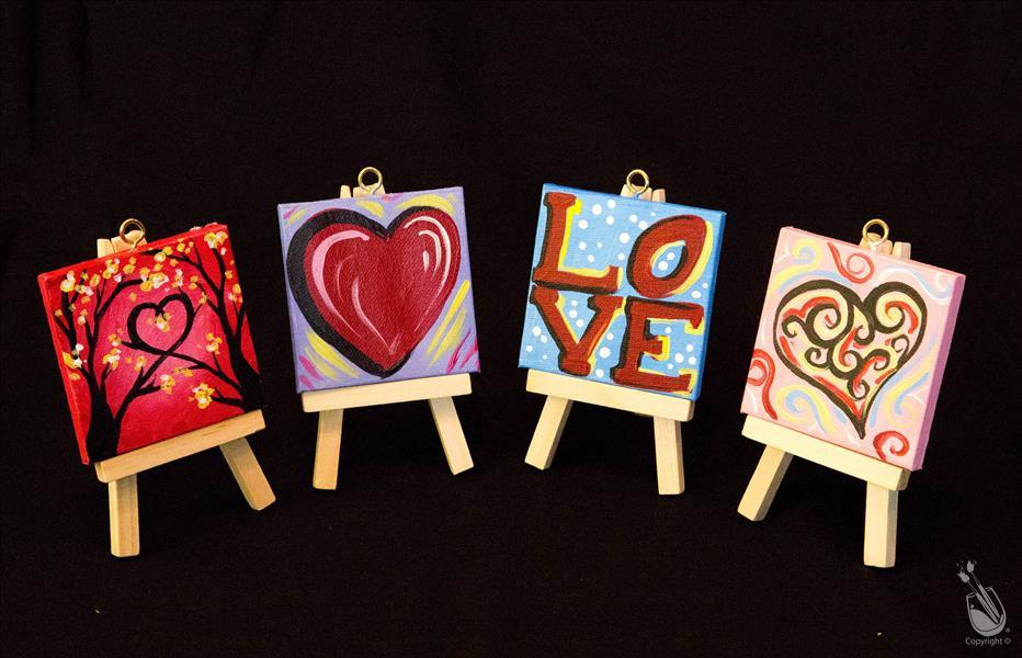 Valentine's Day- Mini easel set of 4