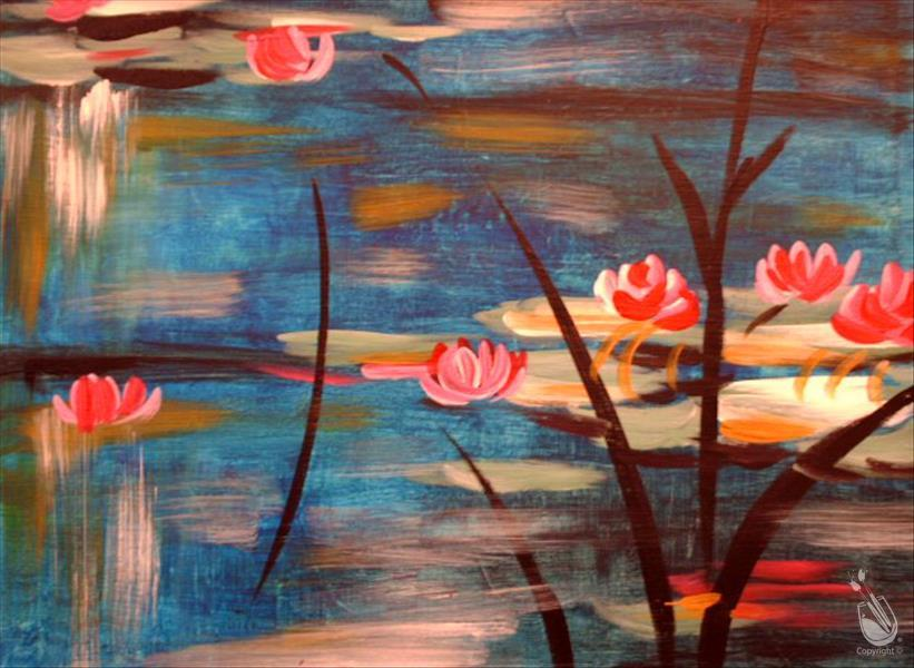How to Paint DAY CLASS! Monet's Lilies III