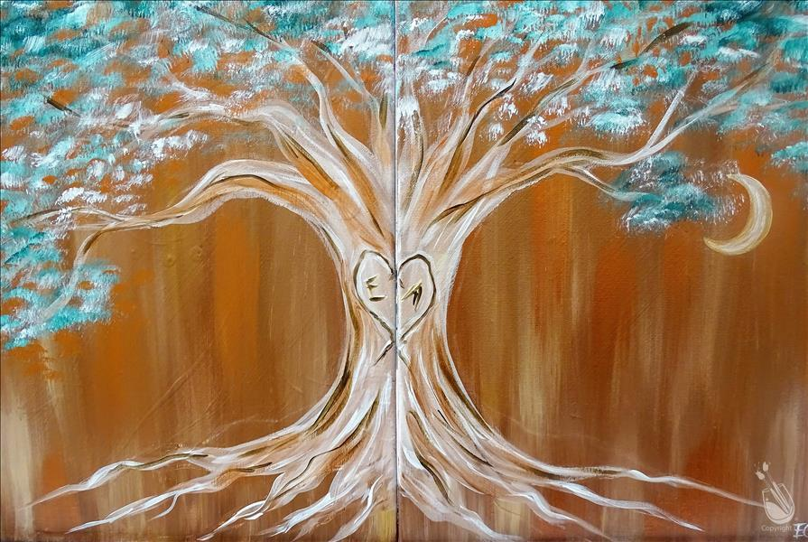 How to Paint *DATE NIGHT!* Copper Love Tree Set