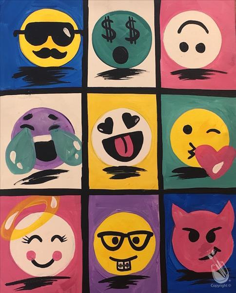 In Studio- Pop Art Emojis (13+)