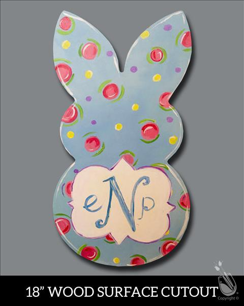 Easter Bunny Monogram! You Pick Colors!