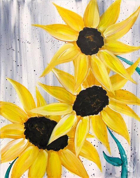 Sunflower Splatter