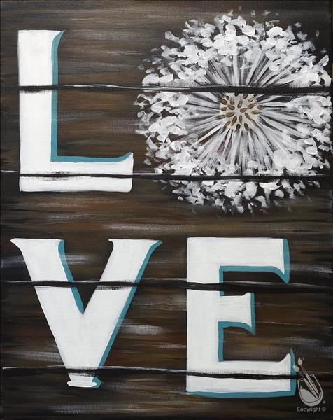 Happy Hour Painting-Dandelion Love