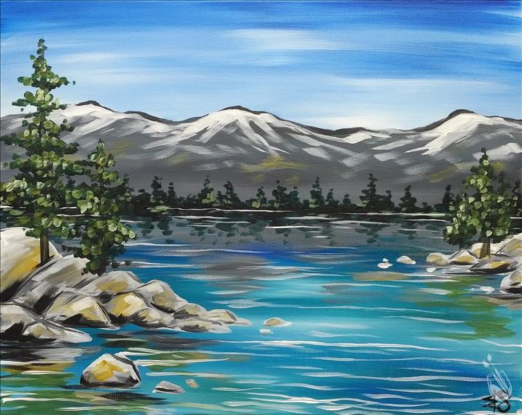 How to Paint Lake Tahoe (Ages 10+) Mask Required