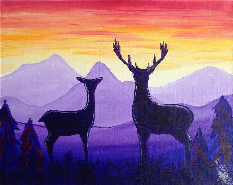 Deer at Sunrise (for just YOU!) ...adults only