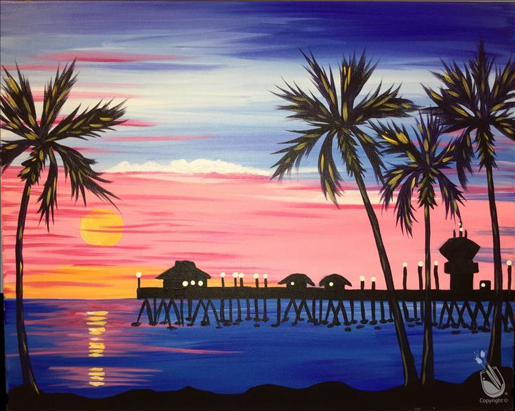 VIRTUAL OR IN STUDIO: Sunset Over the Pier