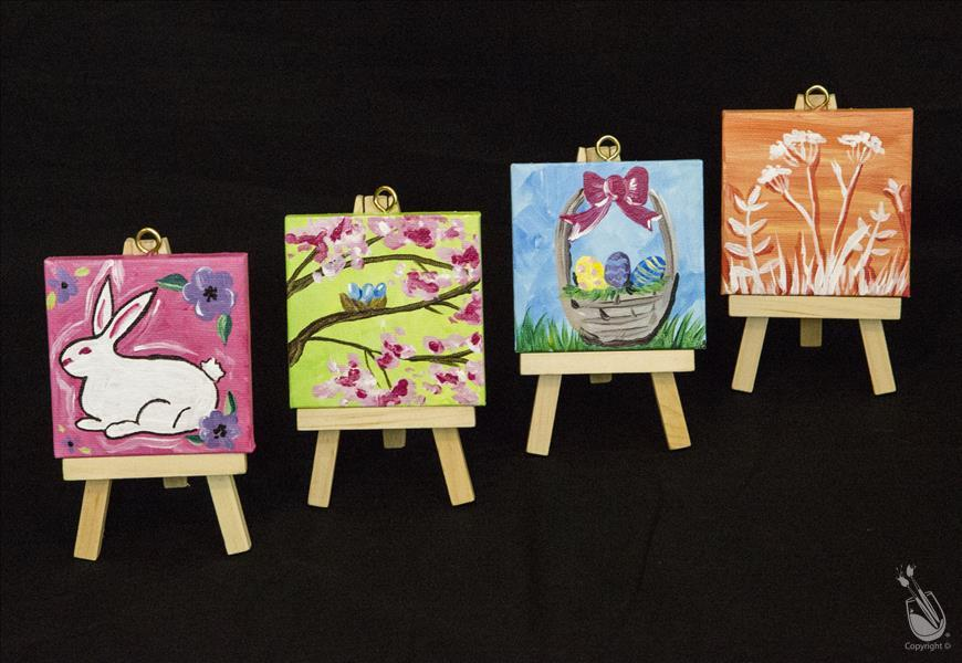 Pastel Easter Mini Easel Set