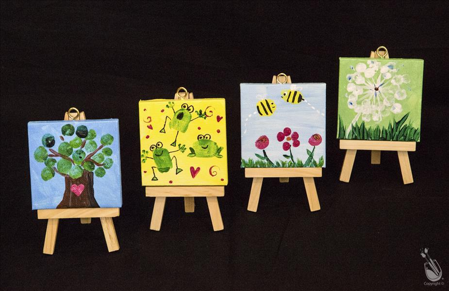 Kids Fingerprints Mini Easel Set