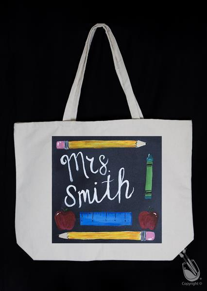 Old-Fashioned Blackboard Tote