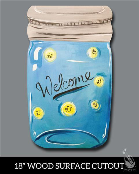 Welcome Firefly Jar Cutout