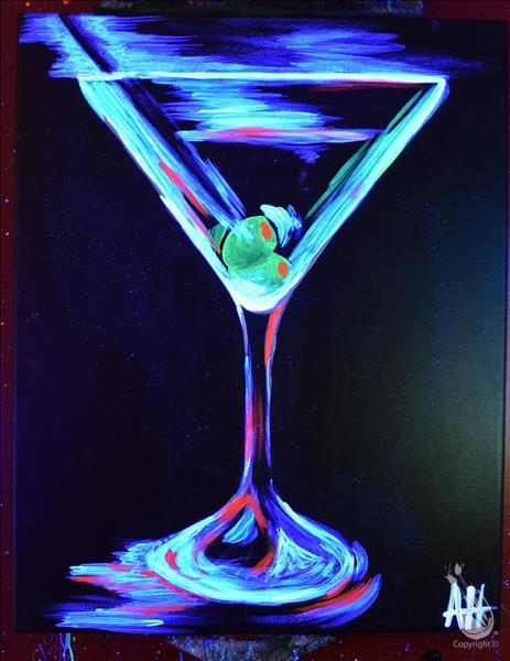 How to Paint Two Olives! NEW Blacklight Class!