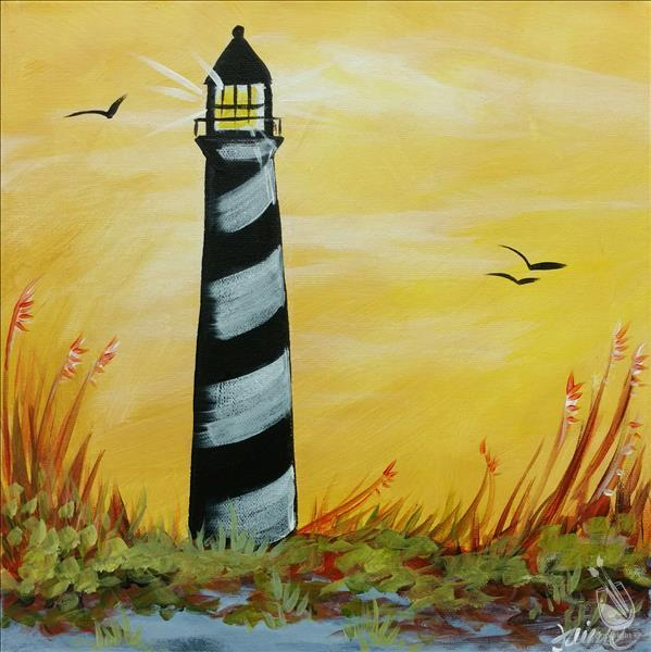 How to Paint Sunshine on a Lighthouse